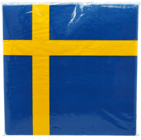 Servetter svenska flaggan 20-pack