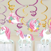 Hängande dekoration Unicorn Magic 12 delar