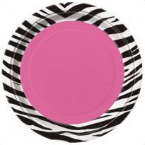 Assietter rosa zebra 8-pack
