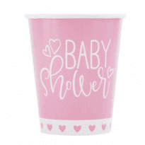 Baby shower rosa muggar 8-pack