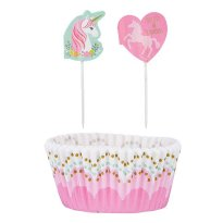 Muffinsformar med picks Unicorn Magic 48 delar