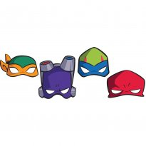 Ögonmasker Turtles 8-pack