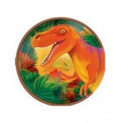 Assietter dinosaurie 8-pack