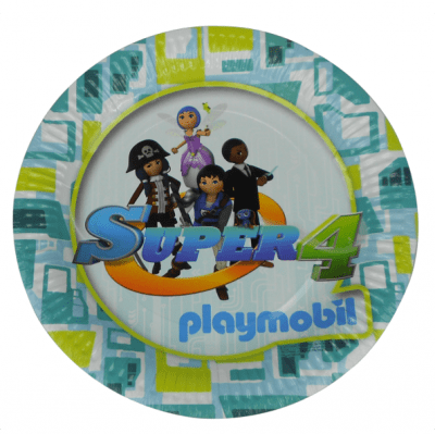 Playmobil Super4 tallrikar 6-pack