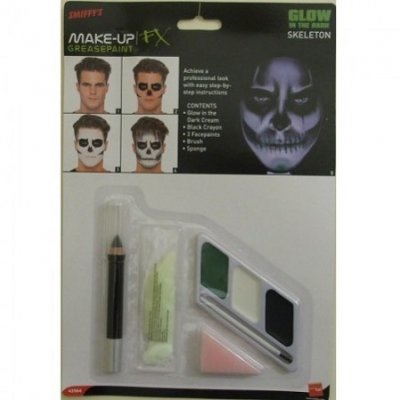 Make up kit skelett glow in the dark