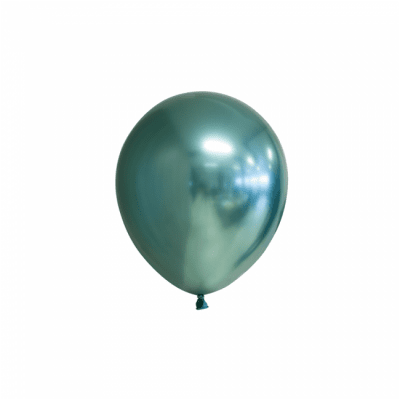 Mini-ballonger Chrome gröna 100-pack